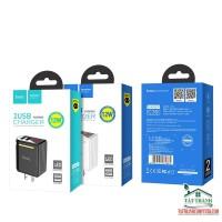 CỐC SẠC HOCO C39 2 CỔNG USB + LED LCD