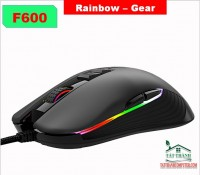 MOUSE GAMING RAINBOW F600 LED RGB