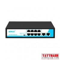 Bộ chia mạng (Switch) Poe Hrui HR900-AF-82N 8port POE + 2 Uplink chính hãng