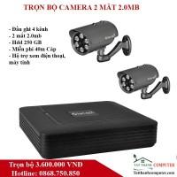 Combo KIT Vantech VP-4160p 2 Camera 2.0 Megapixel + 1 Đầu ghi 4 kênh HD 1080P - Miễn phí lắp đặt