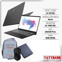 """Laptop MSI Modern 14 B10MW 635VN ( 14"""" Full HD/Intel Core i3-10110U/8GB/256GB SSD/Windows 10 Home 64-bit/1.3kg) NEW"""