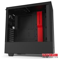 CASE NZXT H510 MATTE BLACK/RED