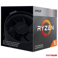 CPU AMD Ryzen 5 3400G, with Wraith Spire cooler/ 3.7 GHz (4.2 GHz with boost) / 6MB / 4 cores 8 threads / Radeon Vega 11 / 65W / Socket AM4