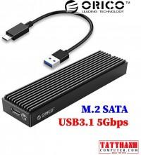 Box di động SSD M.2 NGFF SATA III to USB 3.1 Gen1 Orico M2PF-C3-BK