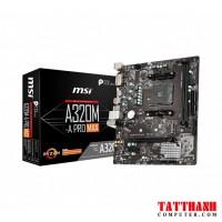 Mainboard MSI A320M-A PRO MAX (AMD A320, Socket AM4, m-ATX, 2 khe RAM DDR4)