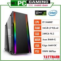 PC GAMING TTC10400f (CPU INTEL i5 10400f/VGA 1660 6G/RAM 16G/PSU 550W)