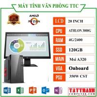 MÁY TÍNH VĂN PHÒNG TTC Athlon (CPU AMD Athlon 3000G/VGA Onboard/RAM 4G/LCD 20 inch)
