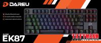 Bàn phím cơ Gaming DAREU EK87 - Black (MULTI-LED, Brown switch)