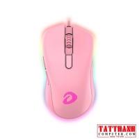 Chuột Dare-U EM908 Queen Pink RGB Gaming (Hồng)