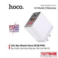 Cốc sạc Nhanh 18W Hoco DC28 Pro PD + QC 3.0 1USB+1 đầu Type C