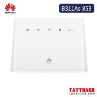 Bộ phát Wifi 3G/4G LTE Huawei B311As-853 tốc độ 150Mbps. Hỗ Trợ 32 User, 1 WAN/LAN 1Gb