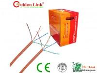 CABLE LAN GOLDEN LINK UTP 5E ĐỎ+ CAM (Tính M)