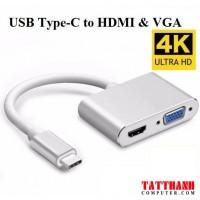 Cáp Chuyển tín hiệu USB Type-C Sang HDMI/ VGA
