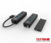 Bộ chia 4 cổng USB 3.0 Unitek Y-3089 có hỗ trợ nguồn phụ