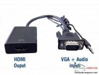 Cáp chuyển Vga To HDMI Có Audio