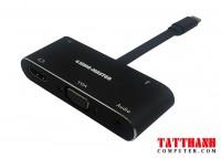 HUB TYPE-C -> USB 3.0 + HDMI + VGA + AUDIO KINGMASTER (KY-V126B)