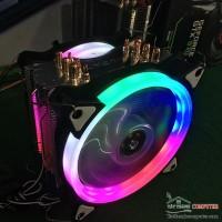 FAN TẢN NHIỆT CPU 6 ỐNG ĐỒNG 2 FAN
