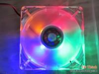 Fan case 12cm trong suốt led 4 màu