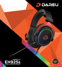 Tai Nghe gaming Dareu EH925s RGB Black