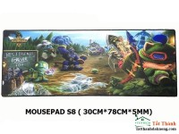 pad mouse hình games s8 (30cmX78cmX5mm) BOX