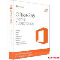 Phần mềm bản quyền/ Office 365 Home English APAC EM Subscr 1YR Medialess P4 (6GQ-00968)