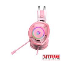 Tai Nghe Dare-U EH469 7.1 Surround Gaming RGB  Pink