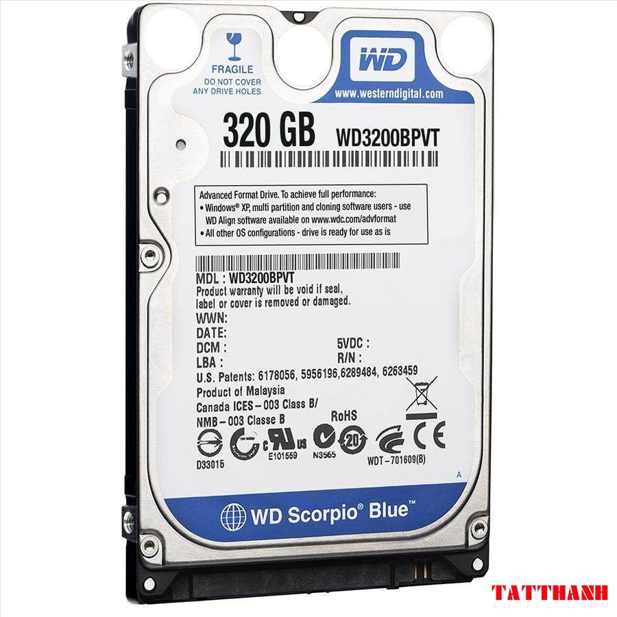 o cung laptop hdd wd 320gb 5400